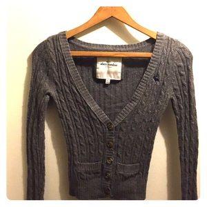 Girls Abercrombie Kids cardigan sweater.